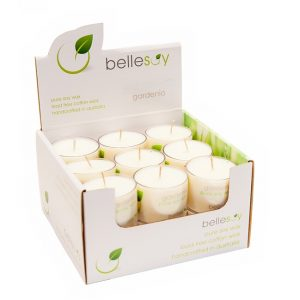 Gardenia Tealight , bellesoy, lead free candle, pure soy