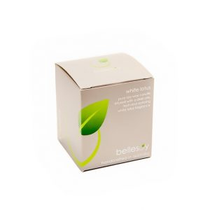 Pure soy wax, lead free, cotton wick, white lotus candle