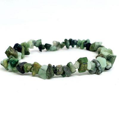 Emerald chip bracelet