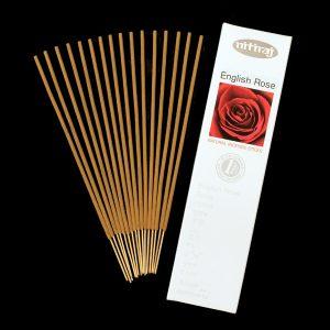 Natural English Rose Incense Sticks, Natural Incense, slow burning incense, aromatic oils