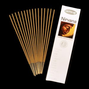 Nirvana Natural Incense Sticks, slow burning, aromatic oils, wood powders