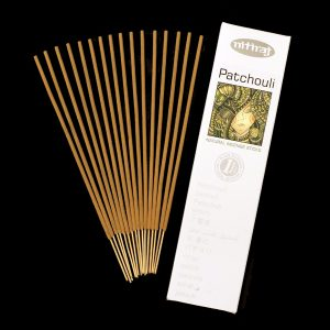 Natural Patchouli Incense sticks, aromatic oils, wood powders, slow burning, recyclable incense