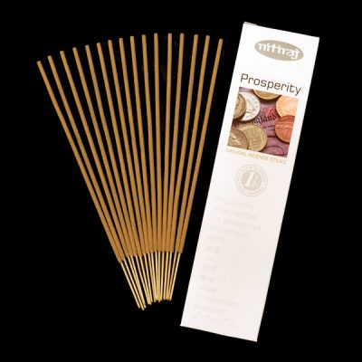 Prosperity Natural Incense Sticks, abundance, slow burning, aromatic oils