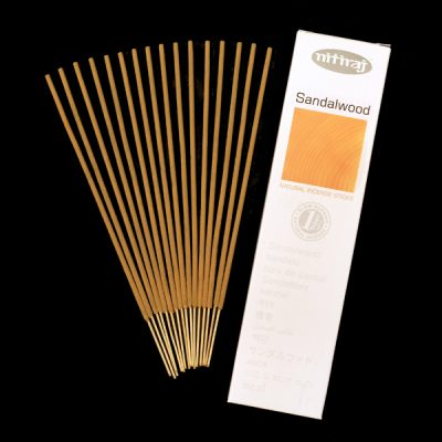 Natural Sandalwood Incense Sticks, clearing, aromatic oils