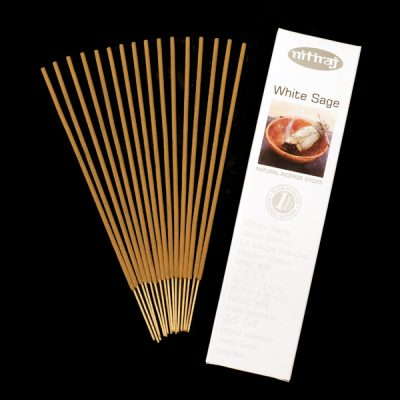 White Sage Natural Incense Sticks, Clearing, Sage, Native