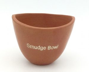 Small clay smudge bowl