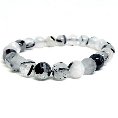 Clear Quartz and Black Tourmaline bracelet