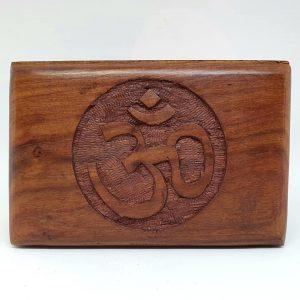 Wooden Box Om