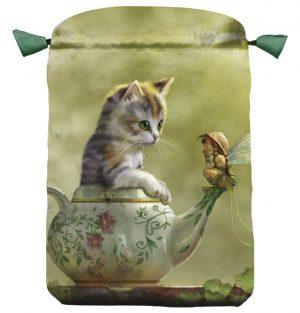 Satin Fantasy cat tarot bag