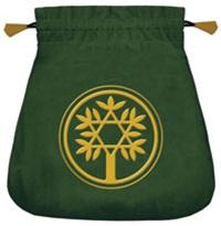 Celtic tree velvet tarot pouch bag