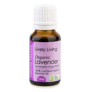 Lavender Lively Living 15ml oil, pure essential, certified organic
