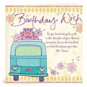 Birthday Wish combi van
