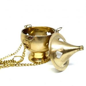 Charcoal Incense Holder Brass