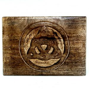 Wooden Box with Celtic Carving