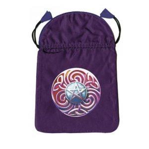 Purple magic satin bag