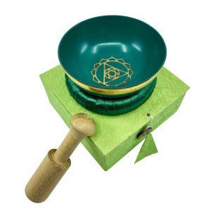 Crystal Bowl Set - Green