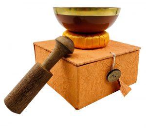 Crystal Bowl Set - Orange