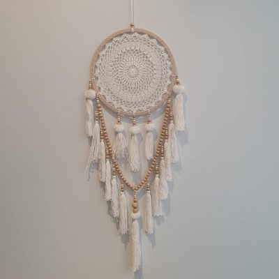 Dream catcher with tassels and beads large