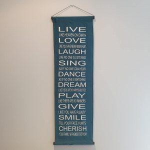 Blue Live, Laugh, Love banner