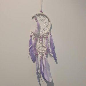 Dream catcher purple half moon