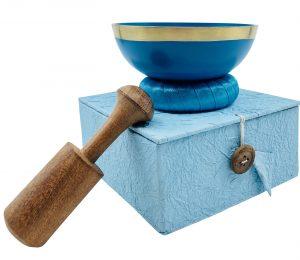 light blue singing bowl set, chakra singing bowl