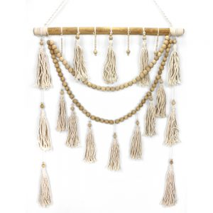 Macrame and stick hanger
