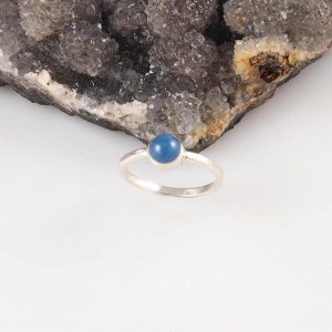 Blue Kyanite Ring, Blue Turtles