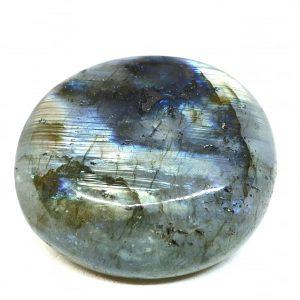 Polished palm stone labradorite