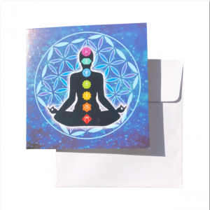 flower of life chakra meditation greeting card