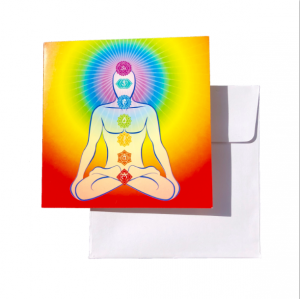 chakra meditation greeting card