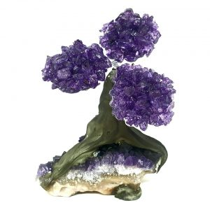 amethyst crystal tree on amethyst cluster crystals