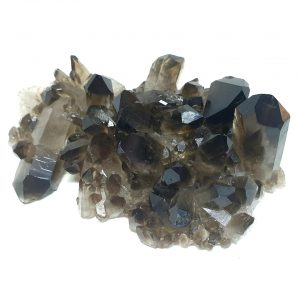 Smoky Quartz crystal cluster from brazil