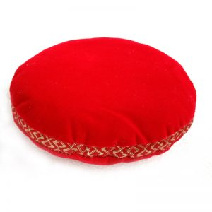 Singing Bowl Cushion - Red