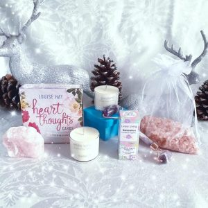 Soul Soothing gift box, pamper pack, relaxation, crystal face roller